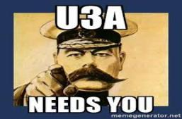 U3A Volunteers required